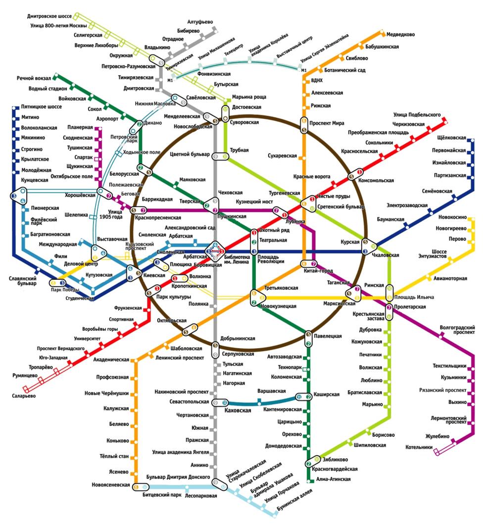 Карта Московского метрополитэна