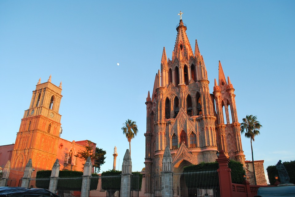 сан мигель де альенде, мексика, церковь церкви
