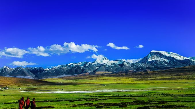 Тибет на карте