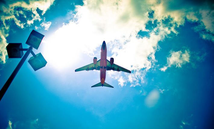 Путешествие самолётом в Японию